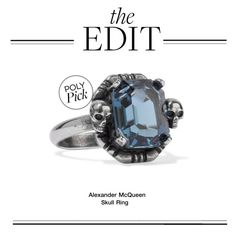 """""""The Edit: Alexander McQueen Skull Ring"""" by polyvore-editorial ❤ liked on Polyvore featuring Alexander McQueen and theedit"""