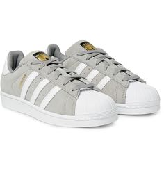 Adidas Originals Superstar Leather-Trimmed Suede Sneakers on ShopStyle