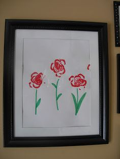 Celery Rose art for Valentine's Day - Create with Kiddos