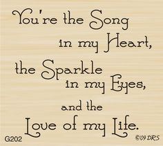 Song in My Heart Greeting Rubber Stamp by DRS Designs Save My Marriage, Marriage Advice, Love And Marriage, Quotes Marriage, Anniversary Greetings, Happy Anniversary, Anniversary Cards, Surya Namaskar, Son Quotes