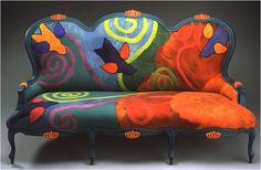 Beautiful couch by Festive Fibres.