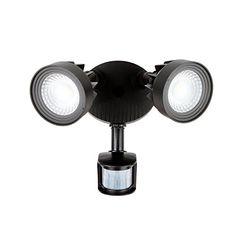 Brightech – LightPRO LED Security Light – Super Bright Energy-Saver – 21 Watts – 3 Motion Sensor Time Settings   Dusk-to-Dawn Automatic Activation – Black