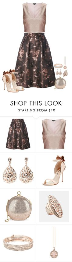 """Rose Gold"" by susan0219 ❤ liked on Polyvore featuring Luxe, Miss Selfridge, Latelita, Sophia Webster, Halston Heritage, Avenue, Anne Klein and Thomas Sabo"