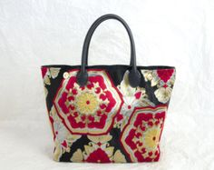 "Reserved for Keiko ""Rising Glory""  (Japanese Silk Kimon; Made in Japan; Japanese Bag; Kimono Tote Bag; Japanese Handbag; Kimono Handbag)"
