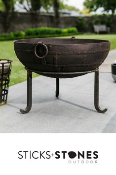 Our Kadai accessories are perfect to complete your fire pit and BBQ cooking utensils for an impressive outdoor feast. At Sticks + Stones Outdoor, we travel the globe to source the most stunning, affordable, practical and stylish items to help you create your own beautiful outdoor space. #outdooraccessories #firepits #BBQ #outdoorcooking Bbq Cooking Utensils, Sticks And Stones, Outdoor Cooking, Fire Pits, Grilling, Outdoor Spaces, Globe, Campfires, Outdoor Kitchens