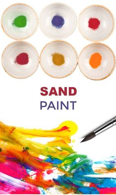 Turn sand into paint with this easy recipe for play! #sandboxideas #sandpaintingforkids #sandpaint #puffypaint #paintrecipeforkids #growingajeweledrose Arts And Crafts For Kids Toddlers, Science For Kids, Art For Kids, Kid Art, Kids Fun, Sand Painting, Painting For Kids, Educational Activities For Kids, Toddler Activities