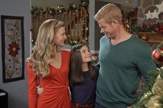 """Check out photos from the Hallmark Movies and Mysteries original movie, """"Nostalgic Christmas,"""" starring Brooke D'Orsay and Trevor Donovan. Family Christmas Movies, Hallmark Christmas Movies, Hallmark Movies, Brooke D'orsay, Jill Wagner, Barbara Gordon, Hallmark Channel, Sean Faris, Trevor Donovan"""
