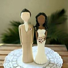 Interracial couple wedding cake topper #wmbw #bwwm #wedding