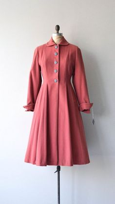 New Horizon coat vintage 1940s princess coat wool by DearGolden