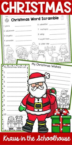 These Christmas activities are perfect for kids to use during the holidays. Elementary students will enjoy these Christmas printables. These worksheets are great for kindergarten, first grade, second grade students and homeschool. School Christmas Party, Christmas Names, My Christmas Wish List, Christmas Words, Christmas Crafts For Gifts, Toddler Christmas, Christmas Wishes, Kindergarten Christmas, Christmas Ideas