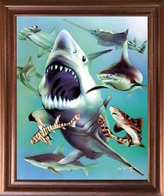 Light up your place with this white shark collage print poster which will greet you each time you pass by! This poster displays the image of white sharks collage pic Frame Wall Decor, Home Decor Wall Art, Framed Wall Art, Wall Art Prints, Poster Prints, Room Decor, Wall Decor Pictures, Framed Pictures, Poster Display