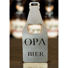 Abridor de garrafa Opa Bier de inox no formato de garrafa