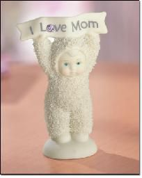 """I Love Mom"" Snowbaby Figurine Retired **Exclusive Edition**  ~ Free Shipping .My babies use to give me snow babies ornaments when they were younger."