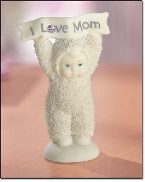"""""""I Love Mom"""" Snowbaby Figurine"""