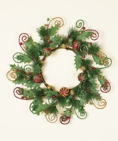 Take a look at this Glitter Swirl Wreath by Transpac Imports on #zulily today!