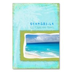 GC | Shangri-La Forever Turquoise Chubby Business Card