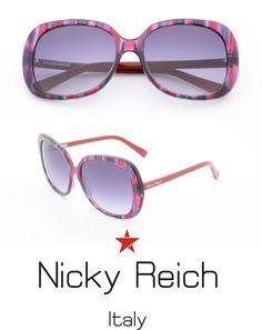 I classici occhiali da sole in acetato linea donna della nuova collezione Nicky Reich curati nei minimi dettagli garantiscono un ottimo comfort e protezione totale lenti uv 400 polarizzate . Usali per stare al passo con la moda .