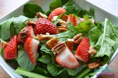 Strawberry Pecan Salad- For additional information and recipes, visit www.GeorgiaPecans.org.