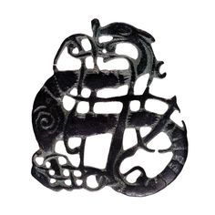 Brooch in the Urnes style    Viking, 11th century AD  Found near the village of Kiaby, Skåne, Sweden