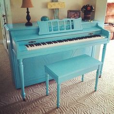 Painted Piano. Love this! But Idk if I'm brave enough to paint mine...