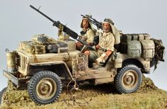 Cyber-hobby SAS jeep, with Legends upgrade kit. Figures from new world miniatures, enjoy Desert Diorama, Special Air Service, Jeep Models, Rc Tank, Military Action Figures, Plastic Model Cars, Military Armor, Military Diorama, Military Modelling