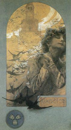 Meet the Classic Artist: Alphonse Mucha Art Nouveau Prague, Art Nouveau Mucha, Alphonse Mucha Art, Art And Illustration, Illustrations And Posters, Illustrator, Jugendstil Design, Art Vintage, Art Graphique