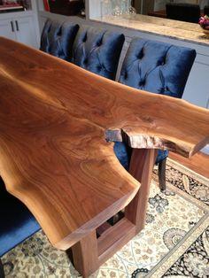 Custom Designed Live Edge Black Walnut Dining Table (Meredith Heron Design)