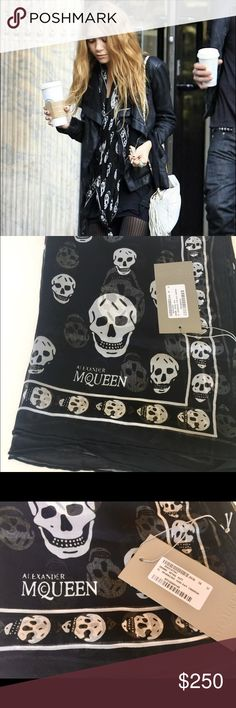 Classic Skull Silk Chiffon Scarf New with tag, perfect gift for someone special. Super comfortable, fashionable, chic, and lightweight. A statement piece, and a celebrity favorite. No box. Accessories Scarves & Wraps