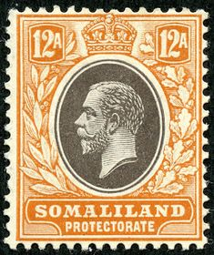 """1912 Scott 58 light blue & black """"George V"""" Quick History The Somaliland Protectorate (British Somaliland) bordered on the Gulf of A. Empire, Buy Stamps, Vintage Stamps, British Colonial, Historical Pictures, Commonwealth, Stamp Collecting, Travel Posters, African"""