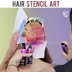Yeni Trend Renkli Saç Dövmesi - Saçlara Renkli Dövme Nasıl Yapılır?