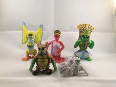 """Eleventh batch of 2"""" Monsters. Includes the Mock Turtle, Happy Harpy, Arachnoyeti, Octavia, and the Ancient Alien."""