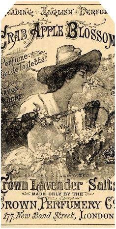 Lilac & Lavender: English Perfume ~ Spring gift tags