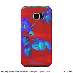 Red Sky Blue Leaves Samsung Galaxy S6  case
