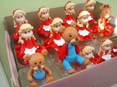 Cachinhos dourados e os tres ursos de biscuit. Festa infantil.