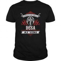 I Love  DESA Blood Runs Through My Veins (Dragon) - Last Name, Sub Name Shirts & Tees