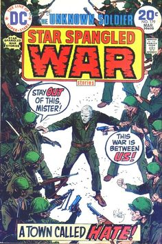 I thought it would be befitting to highlight some of the koolest military / war related comic books, many of which are in the The Museum Of UnCut Funk archives. Dc Comic Books, Comic Book Covers, Comic Art, Scary Comics, Dc Comics, Dc World, Unknown Soldier, Adventure Movies, Classic Comics