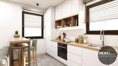 Kuchnia w bieli i brązie - zdjęcie od MONOstudio - Kuchnia - Styl Nowoczesny - MONOstudio