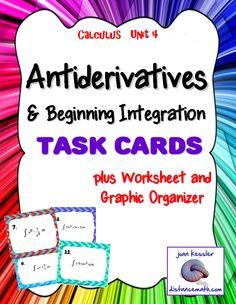 Calculus: Indefinite Integrals Activity - Google Edition | Ap ...