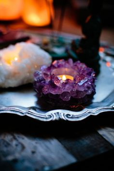 Amethyst Circle Candle Holder