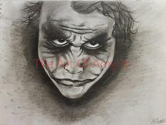 Heath Ledger as The Joker!  https://www.etsy.com/listing/201866927/50-off-heath-ledger-as-the-joker