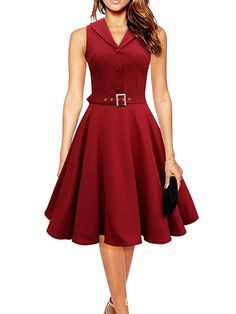 89cd727a7f6 Vintage Dress 1950s Women Summer Elegant Dress Sleeveless Party Dresses  dark blue style a line rockabilly · Vintage Red ...