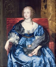 ca. 1637 Lady Anne Cecil by Sir Anthonis van Dyck (location unknown to gogm) From www.pinterest.com:egreetham:faces-of-the-past