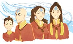 Imagined the lovelies in a few years! Jinora at 21, Ikki at 18, Meelo at 16, and Rohan at 11.