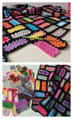 Rectangle Granny Square Free Crochet Pattern