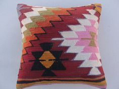 HANDWOVEN Traditional Turkish Kilim Pillow Cover by misterpillow, $62.00