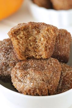 These delicious and moist cinnamon sugar pumpkin donut holes are easy to make and are paleo, grain-free, gluten-free and dairy-free!