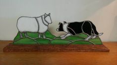 Stained glass border collie or herding dog of your choice, 75.00 shipping extra.