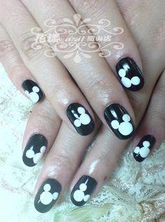 mickey nail decor!