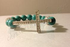 silver cross turquoise beads 1