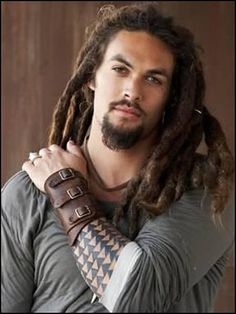 Jason Momoa - love the leather cuff